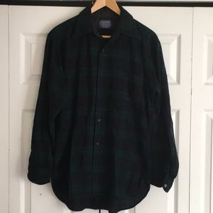 Pendleton 100% Virgin Wool Plaid Button Down Shirt